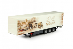 3-assige gesloten oplegger ( 125 Jaar Scania )