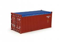 T.B. 20ft open top rental container