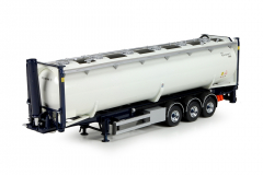 T.B. 40ft silo container met chassis