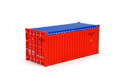 T.B.P. 20FT. Open Top container