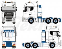 Scania Down Under blue chassis