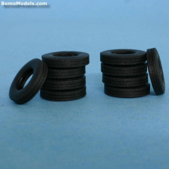 Tire vintage front, rear and trailer 21mm (10pcs)
