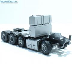 Zwaartransp. trek chassis met koeler halffabrikaat (Lion Toys)