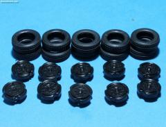 Tires, rims 18mm Goldhofer lll XLE70 (10pcs)