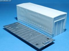 Dutch curtain box 7,2m (144mm)+bottom plate trailer