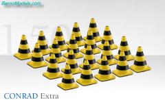 Wegafzetting pionnen geel/zwart 1:50  conrad