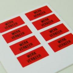 Werkverkeer Borden Rood per 8 stuks