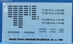 Stickerset Scania R/P/T Serie  set1