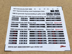 Daf 2800/3300/3600 type stickers