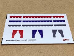 Sticker set Gordijnen voorruit en deuren