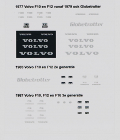 Volvo F10/F12/F16 type stickers