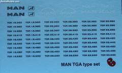 MAN TGA type aanduiding (decal)