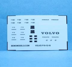 Decal set Volvo F10/12/16 type (watertransfer)