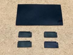 Mudflap set 4x 14x7mm / 1x 55x32mm