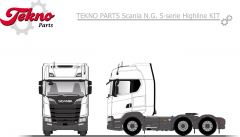 Scania N.G. S-serie Highline 6x2 tag axle chassis kit