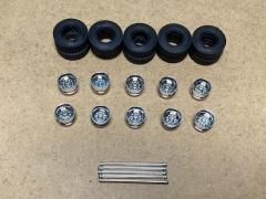 Supersingle rim chrome, tyre and axle set (10pcs)
