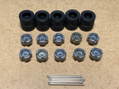 Middle axle trailer rim, tyre and axle (10pcs)