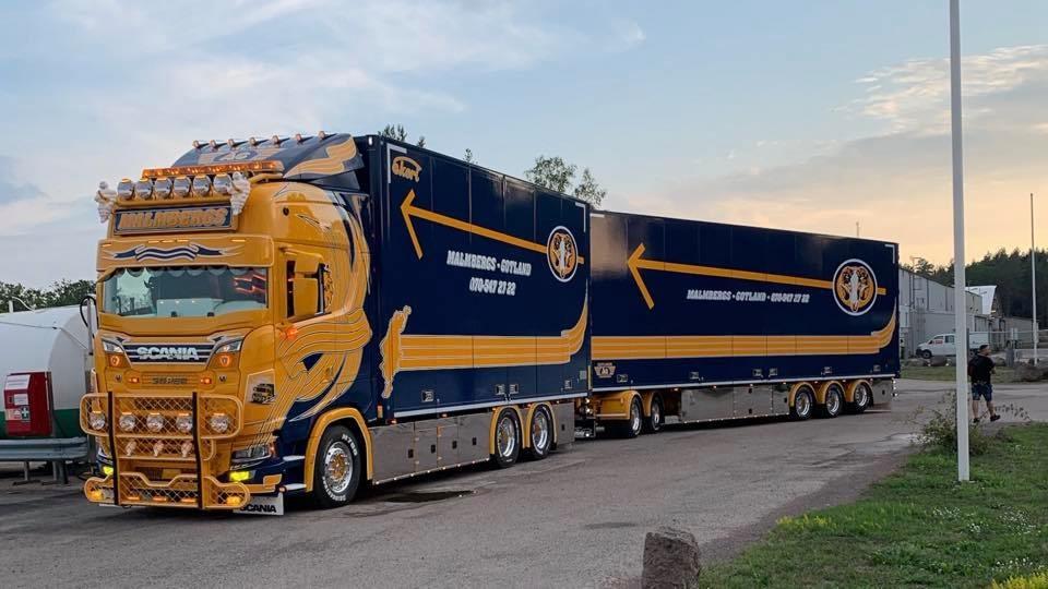Nieuwe truck van Malmbergs, Zweden