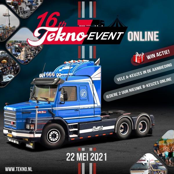 Zaterdag 22 mei Tekno Event - ONLINE